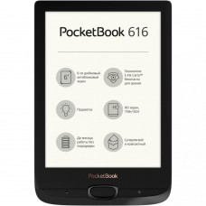 Електронна книга з підсвічуванням PocketBook 616 Basic Lux 2 Obsidian Black PB616-H-CIS