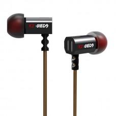 Вакуумні навушники KZ ED9 з мікрофоном (Чорний)