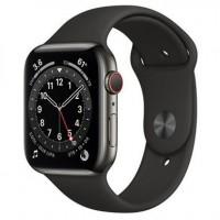 Смарт-годинник Apple Watch Series 6 Gps Cellular 44mm Graphite Stainless Steel Case w. Black Sport B. (M07Q3)