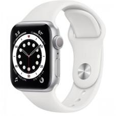 Смарт-Apple Watch Series 6 Gps 40mm Silver Aluminum Case w. White Sport B. (MG283)