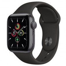 Смарт-Apple Watch SE Gps 40mm Space Gray Aluminum Case w. Black Sport B. (MYDP2)