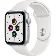 Смарт-Apple Watch SE Gps 44mm Silver Aluminum Case w. White Sport B. (MYDQ2)