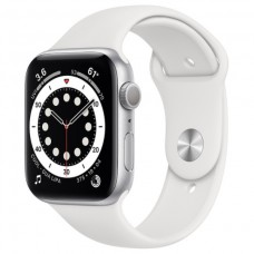Смарт-Apple Watch Series 6 Gps 44mm Silver Aluminum Case w. White Sport B. (M00D3)