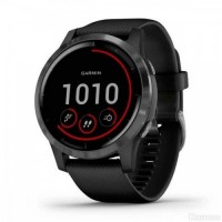 Смарт-часы Garmin vivoactive 4 Slate Stainless Steel Bezel w. Black and Silicone B. (010-02174-11)