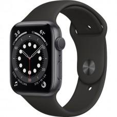 Смарт-Apple Watch Series 6 Gps 44mm Space Gray Aluminum Case w. Black Sport B. (M00H3)