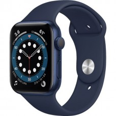 Смарт-Apple Watch Series 6 Gps 44mm Blue Aluminum Case w. Deep Navy Sport B. (M00J3)