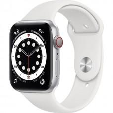 Смарт-Apple Watch Series 6 Gps Cellular 44mm Silver Aluminum Case w. White Sport B. (M07F3)