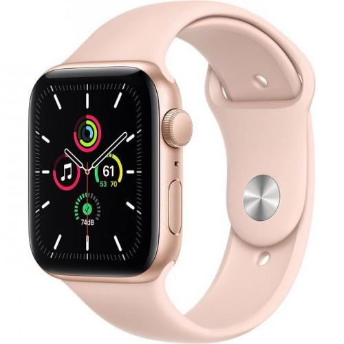 Смарт-Apple Watch SE Gps 44mm Gold Aluminum Case w. Pink Sand Sport B. (MYDR2)