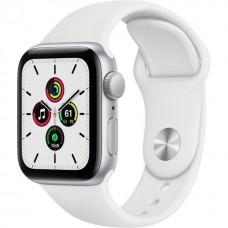 Смарт-Apple Watch SE Gps 40mm Silver Aluminum Case w. White Sport B. (MYDM2)
