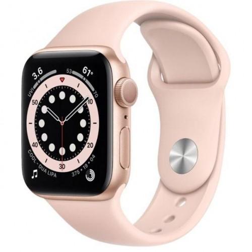 Смарт-Apple Watch Series 6 Gps 40mm Gold Aluminum Case w. Pink Sand Sport B. (MG123)