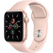 Смарт-Apple Watch SE Gps 40mm Gold Aluminum Case w. Pink Sand Sport B. (MYDN2)