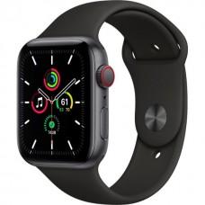 Смарт-Apple Watch SE Gps Cellular 44mm Space Gray Aluminum Case with Black Sport B. (MYER2)