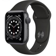 Смарт-Apple Watch Series 6 Gps 40mm Space Gray Aluminum Case w. Black Sport B. (MG133)