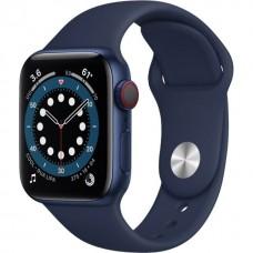 Смарт-годинник Apple Watch Series 6 Gps Cellular 40mm Blue Aluminum Case w. Deep Navy Sport B. (M02R3)
