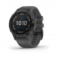 Смарт-годинник Garmin Fenix 6 Pro Solar Edition Black With Gray Band (010-02410-11)