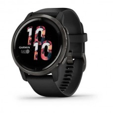 Смарт-годинник Garmin Venu 2 Slate Stainless Steel Bezel with Black Case and Silicone Band (010-02430-11/01)