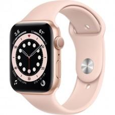 Смарт-Apple Watch Series 6 Gps 44mm Gold Aluminum Case w. Pink Sand Sport B. (M00E3)