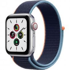 Смарт-годинник Apple Watch se Gps Cellular 40mm Silver Aluminum Case with Deep Navy Sport L. (MYE92 / MYEG2)