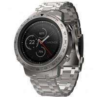 Спортивний годинник Garmin fenix Chronos Steel with Brushed Stainless Steel Watch Band (010-01957-02)